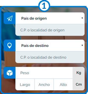Wie man eine Paketsendung bei Sendiroo in Auftrag gibt; Schritt 1